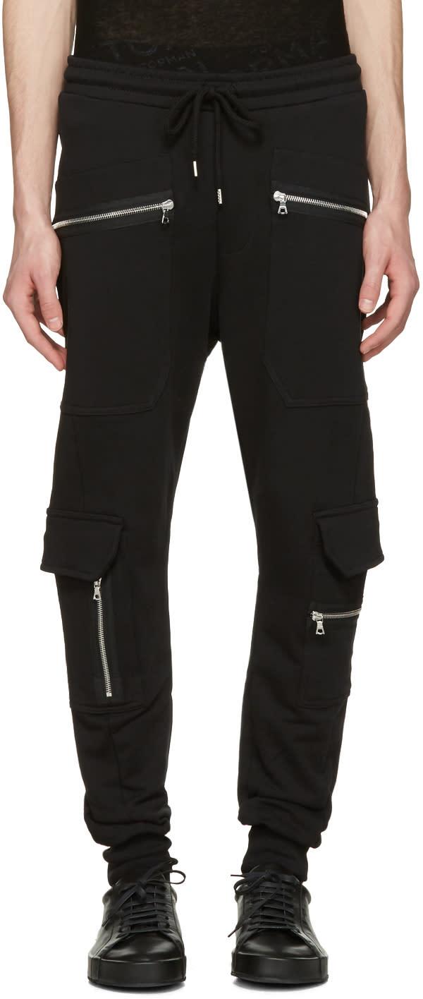 Markus Lupfer Black Cargo Zip Lounge Pants