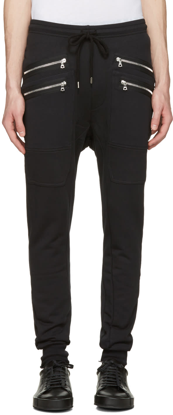 Markus Lupfer Black Double Zip Lounge Pants