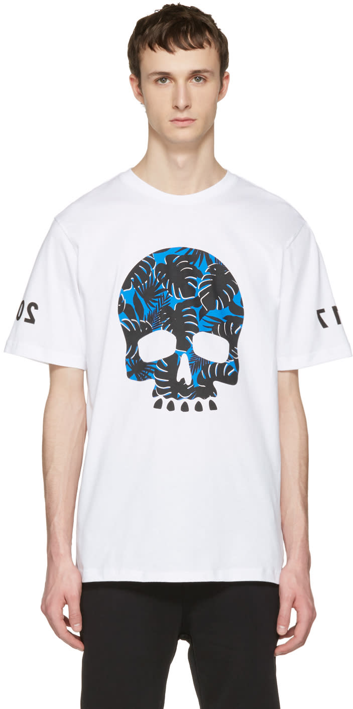 Markus Lupfer White Skull T-shirt