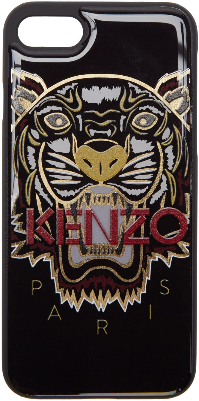 Kenzo Black and Gold Tiger Iphone 7 Case