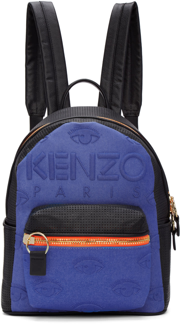 Kenzo Blue and Black Kombo Backpack