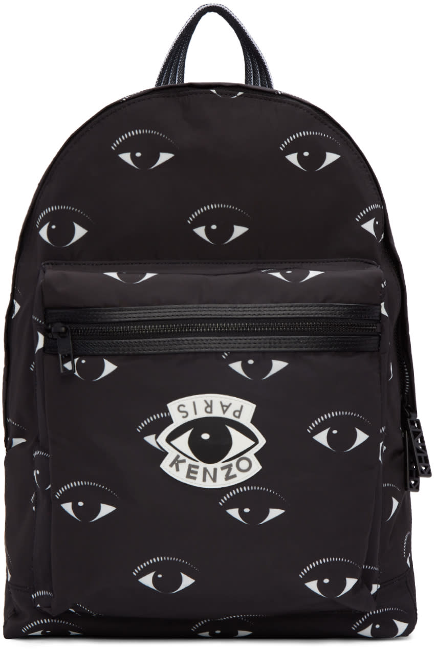 Kenzo Black Allover Eye Backpack