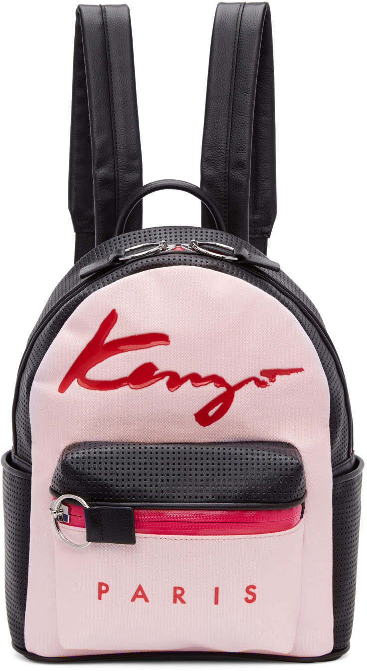 Kenzo Pink Logo Essentials Backpack