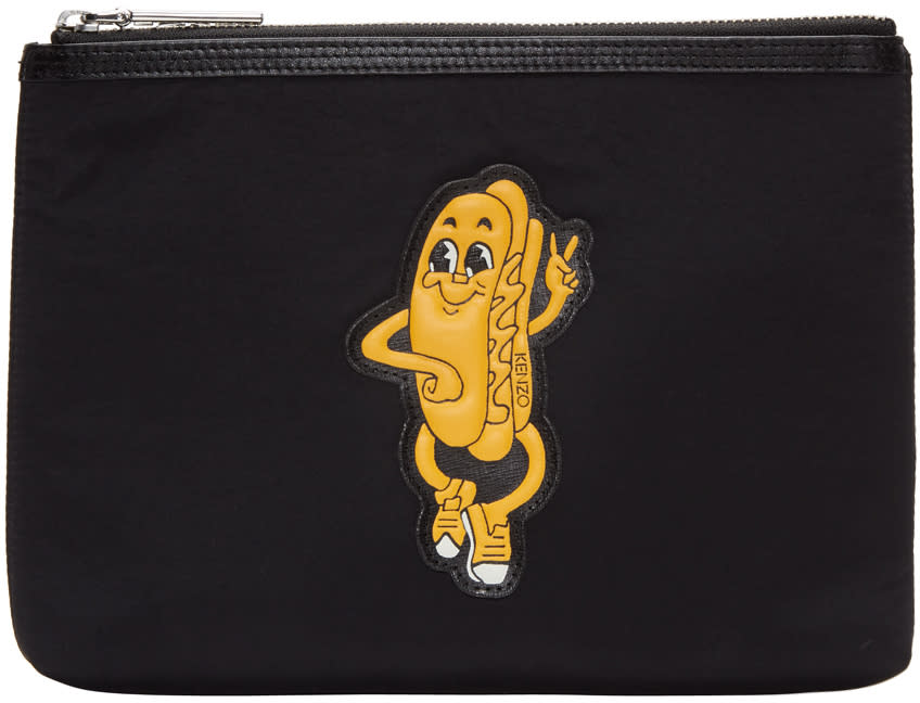 Kenzo Black Hot Dog Pouch
