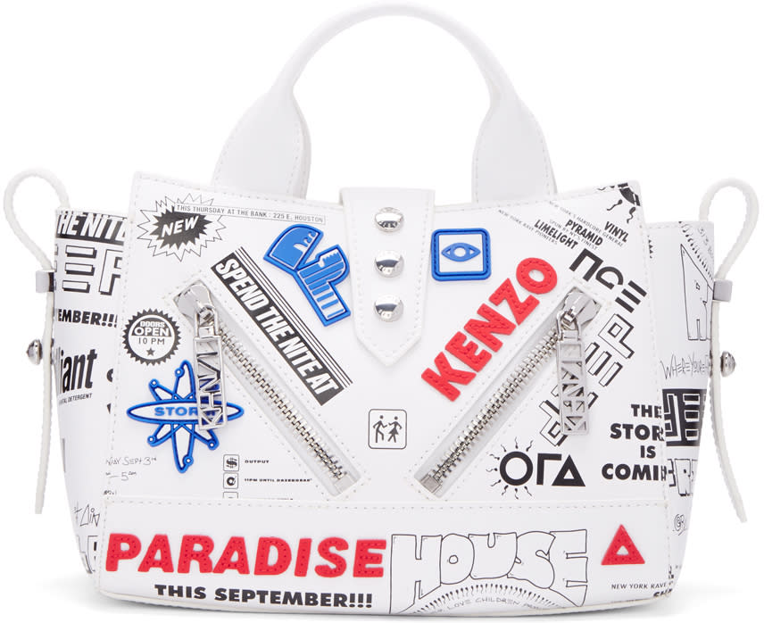 Kenzo White Flyers Kalifornia Bag