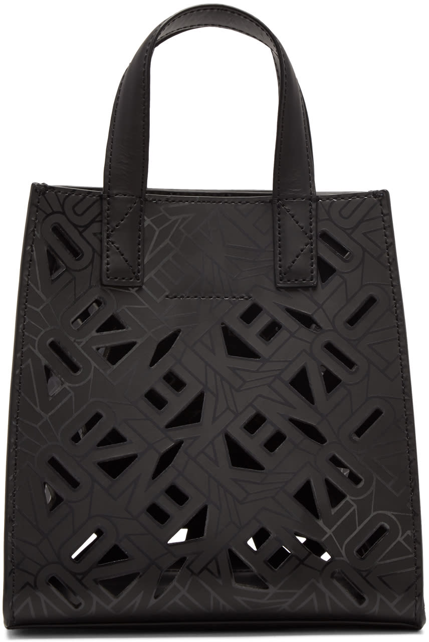 Kenzo Black Flying Logo Tote Bag