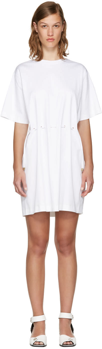 Kenzo White Drawstring T-shirt Dress