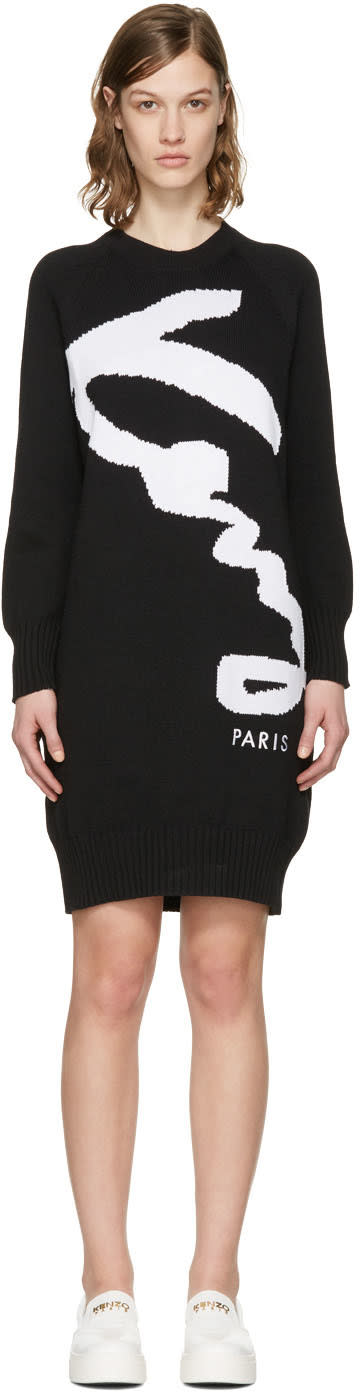 Kenzo Black Pullover Dress