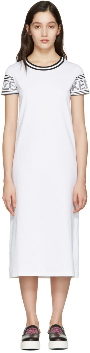 Kenzo White Logo T-shirt Dress