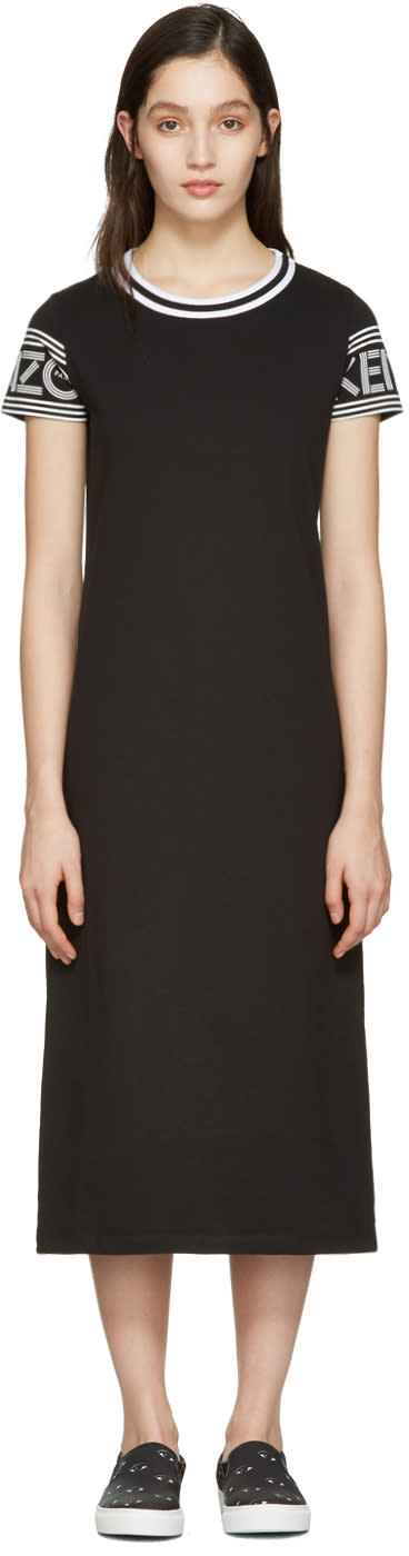 Kenzo Black Logo T-shirt Dress