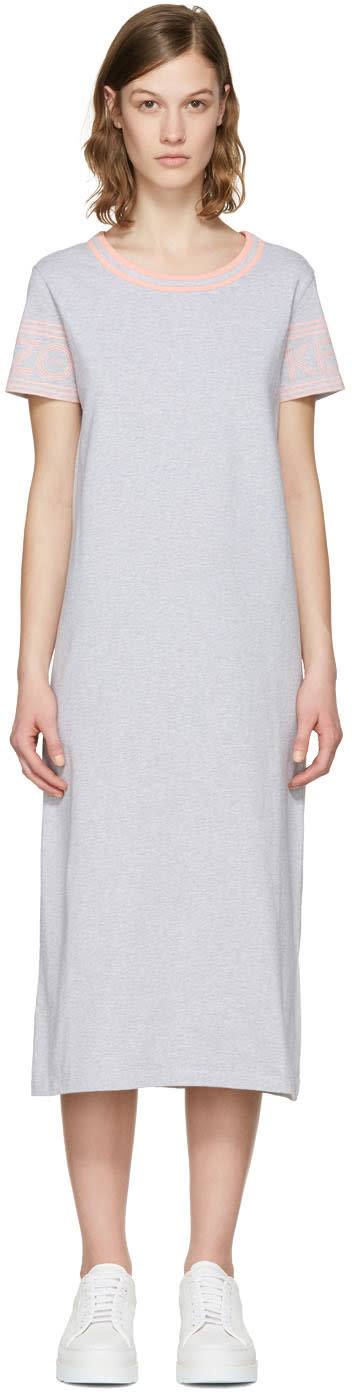 Kenzo Grey Logo Sleeve Dress