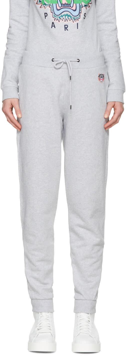 Kenzo Grey Tiger Crest Track Pants