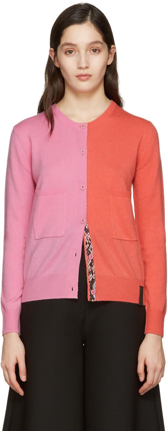 Kenzo Pink Colorblock Cardigan