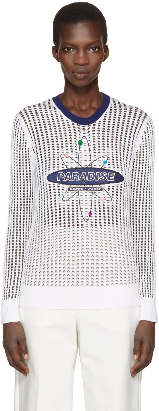 Kenzo White paradise Mesh Pullover