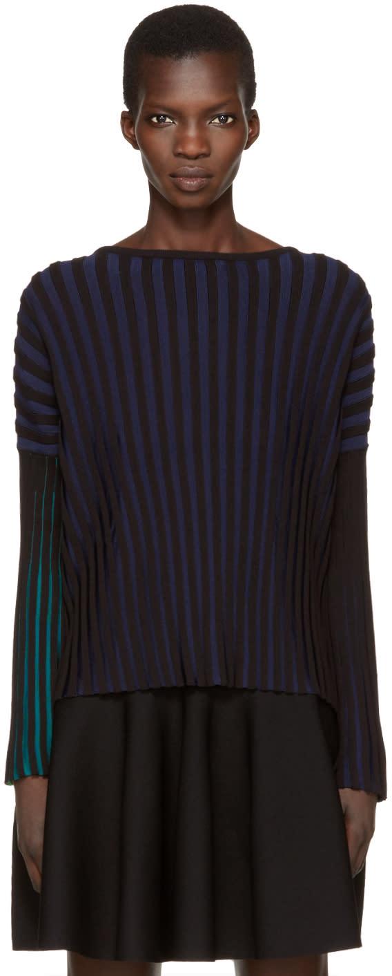 Kenzo Black Plisse Pullover