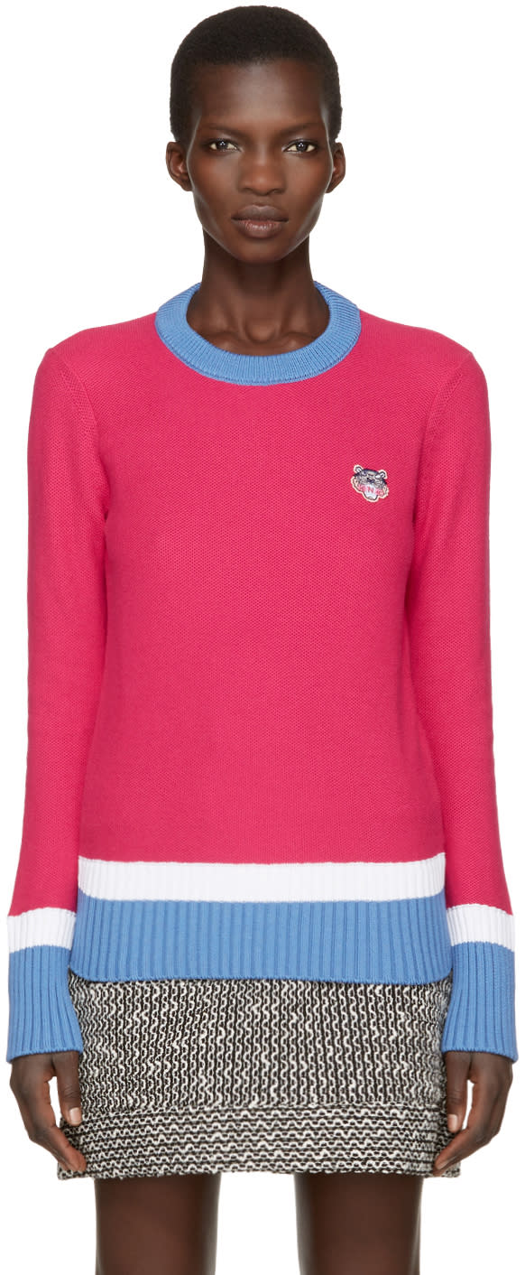 Kenzo Pink Tiger Crest Pullover
