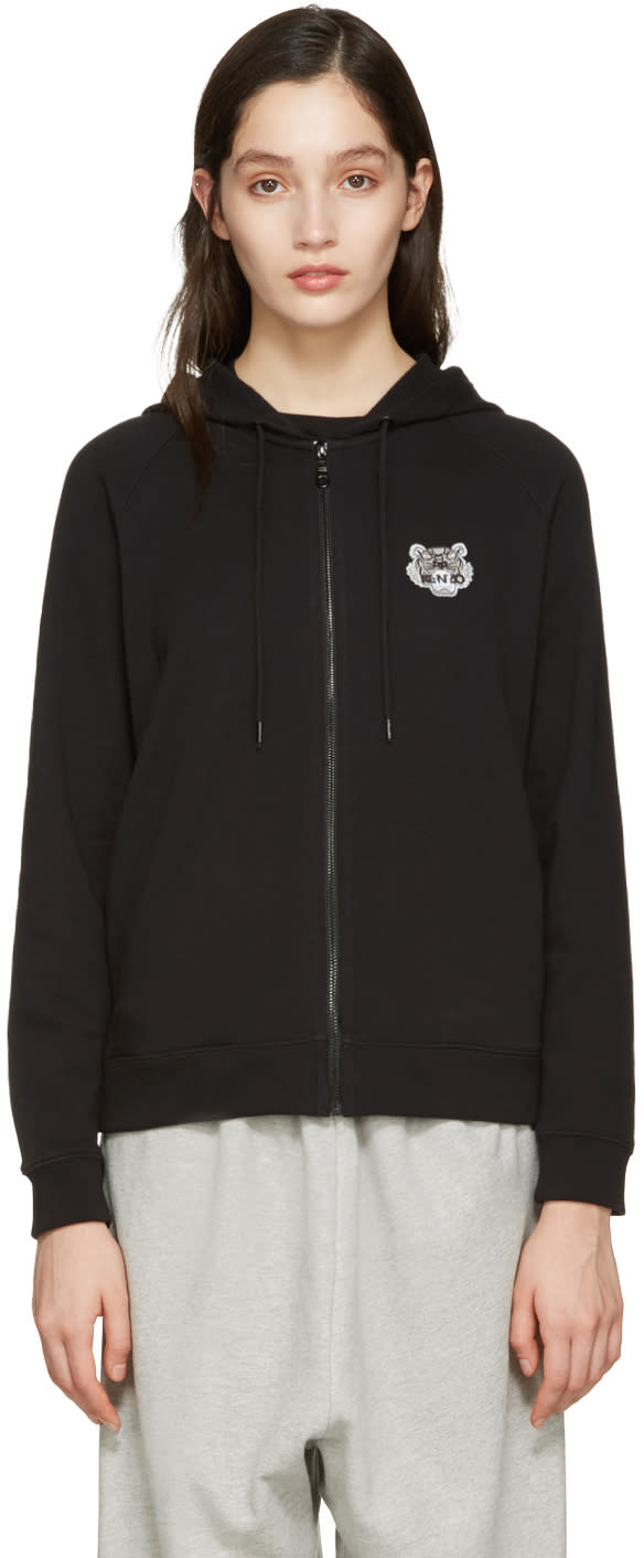Kenzo Black Tiger Patch Hoodie