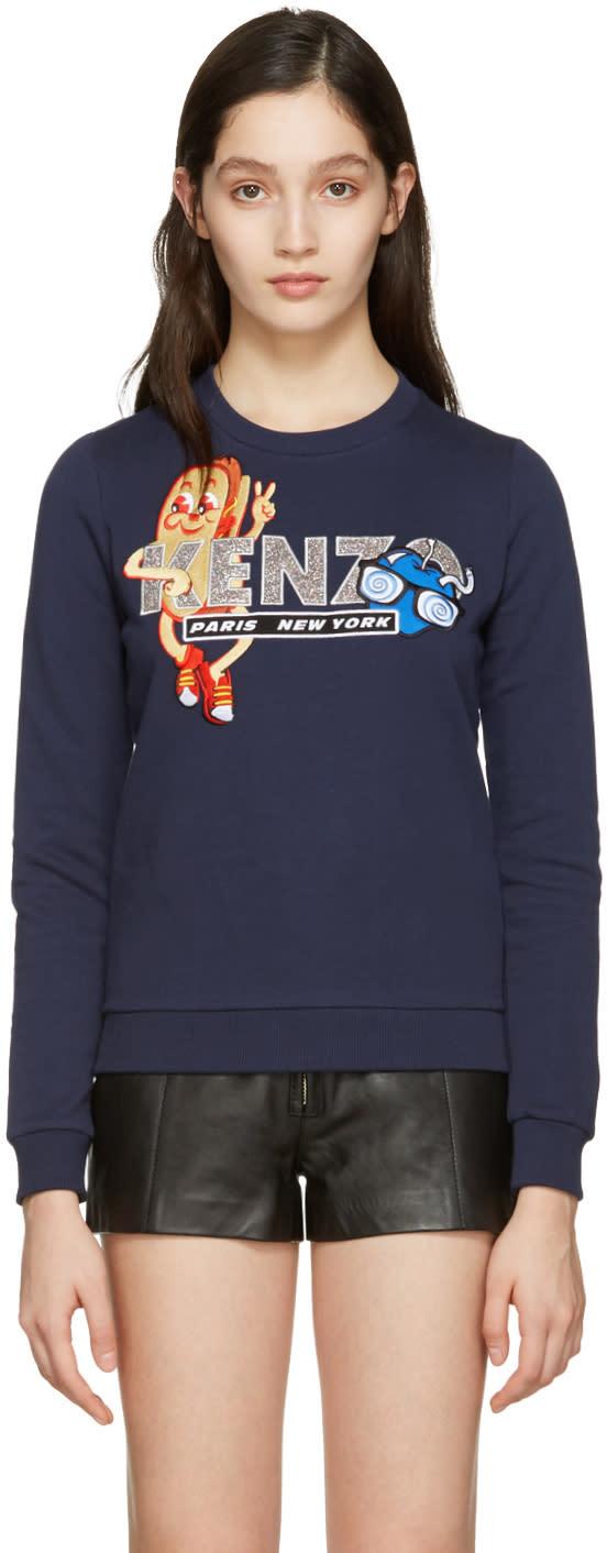 Kenzo Navy Hot Dog Pullover