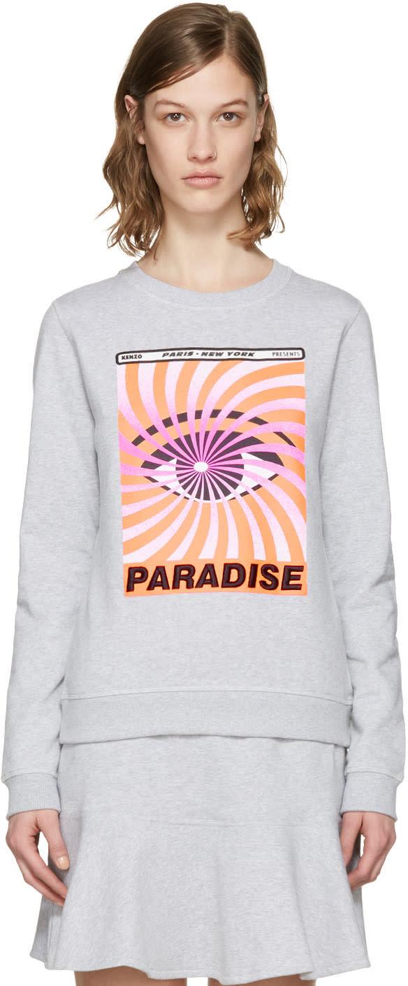 Kenzo Grey paradise Flyer Pullover