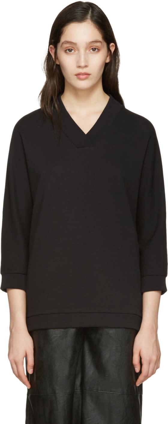 Kenzo Black V-neck Logo Pullover