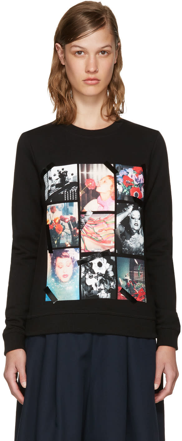 Kenzo Black Photo Collage Sweatshirt