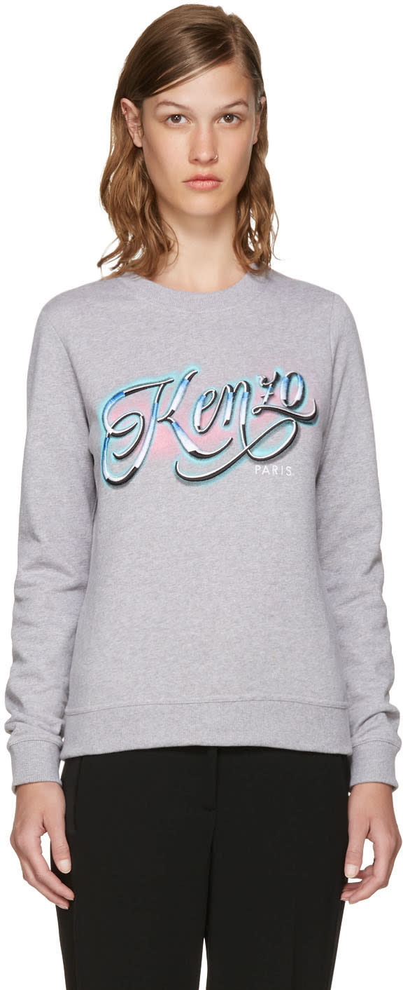 Kenzo Grey Lyrics Sweatshirt