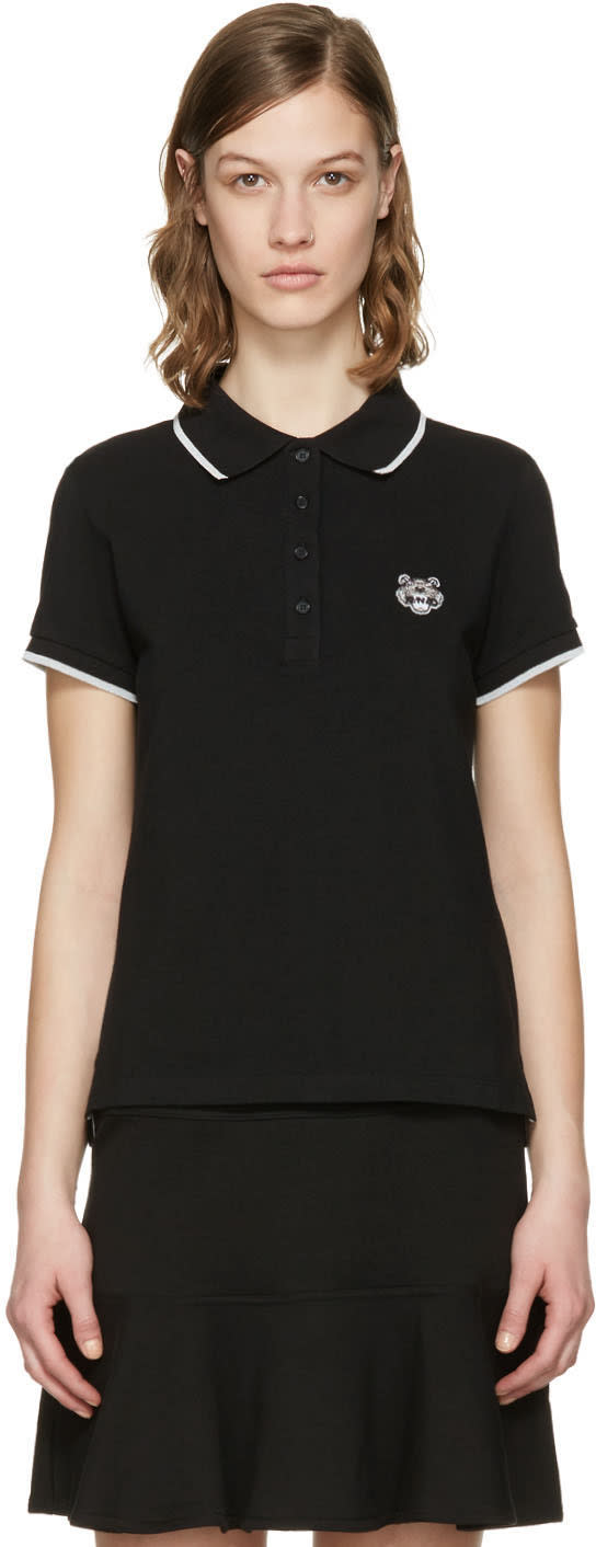 Kenzo Black Tiger Crest Polo