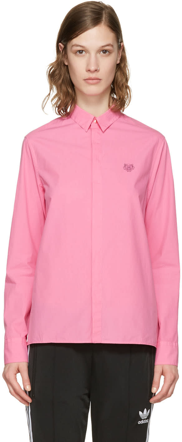 Kenzo Pink Embroidered Tiger Shirt