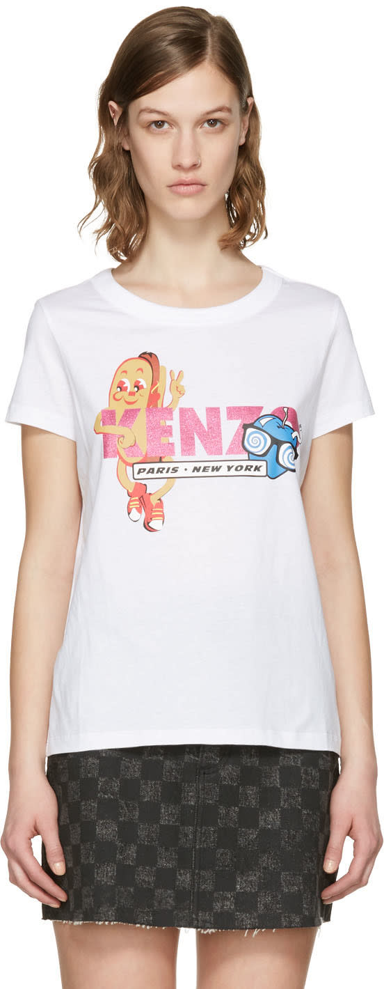 Kenzo White Hot Dog T-shirt