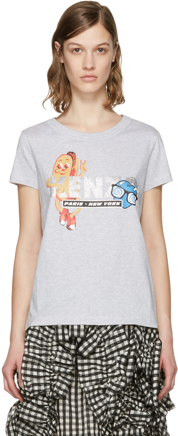 Kenzo Grey Hot Dog T-shirt
