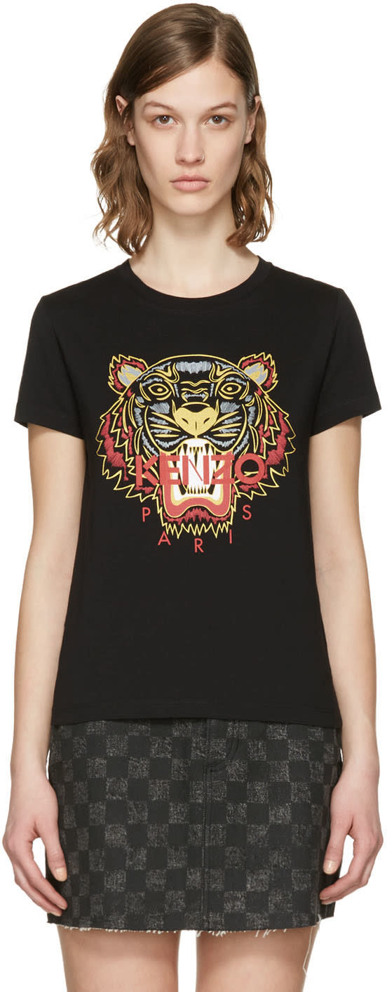 Kenzo Black Chinese New Year Tiger T-shirt