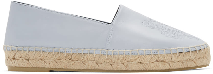 Kenzo Blue Leather Tiger Espadrilles