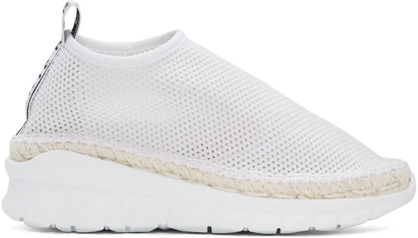Kenzo White Scuba Mesh Sneakers
