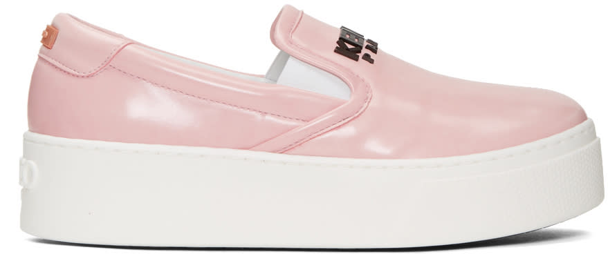 Kenzo Pink Faux-leather Sneakers
