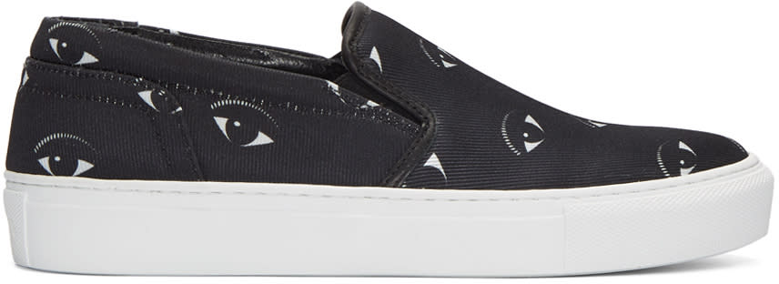 Kenzo Black Eyes Slip-on Sneakers