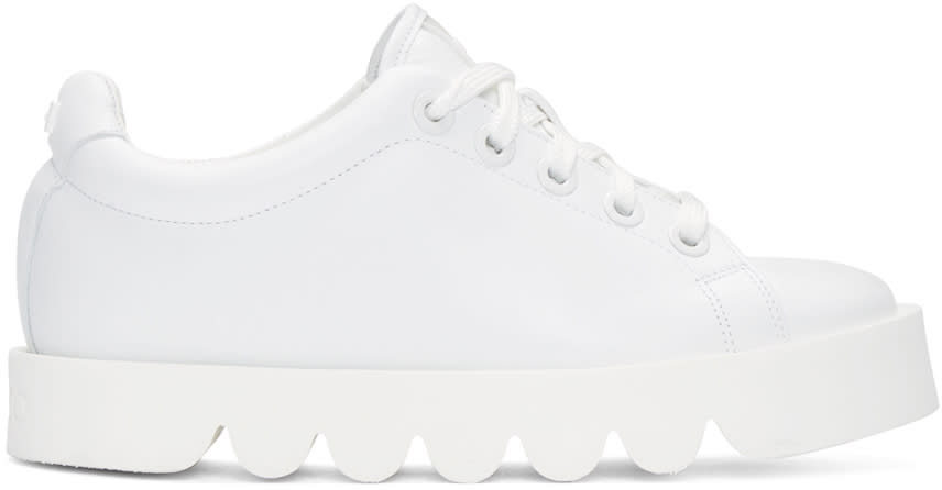 Kenzo White Leather Low-top Sneakers