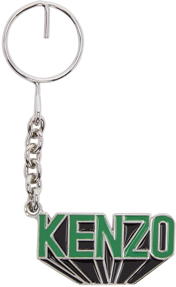 Kenzo Black Flying Logo Keychain