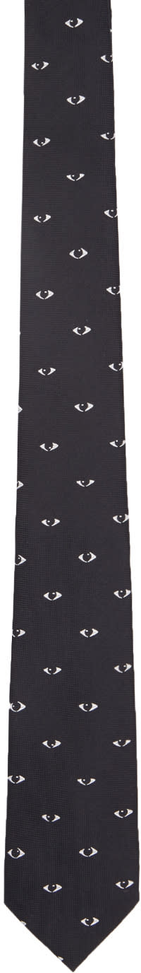 Kenzo Black Eyes All Over Tie