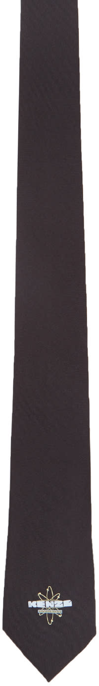 Kenzo Black Nasa Logo Tie
