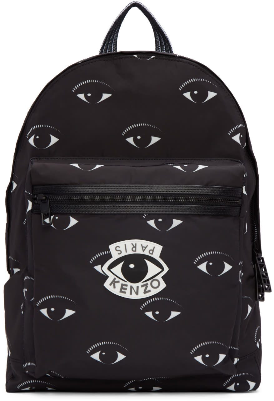 Kenzo Black Eye Backpack