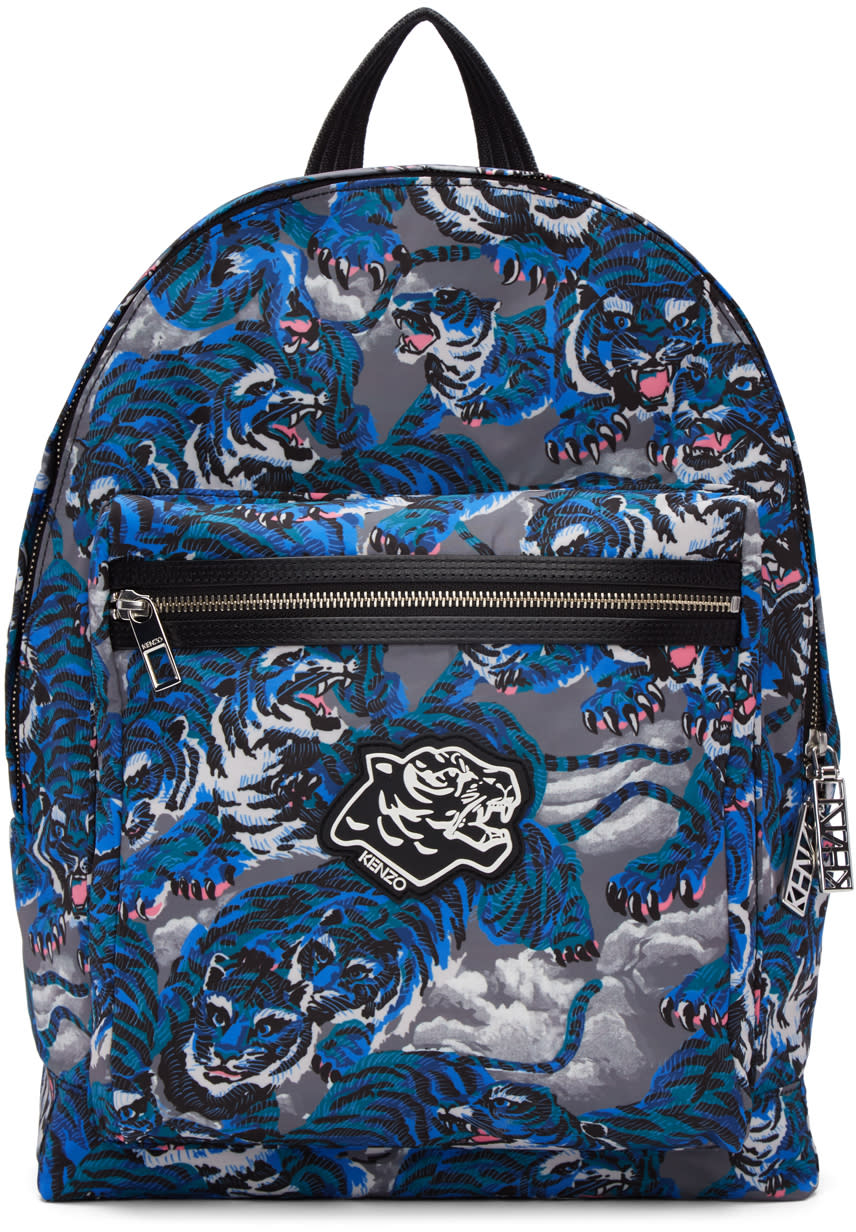 Kenzo Blue Flying Tiger Backpack