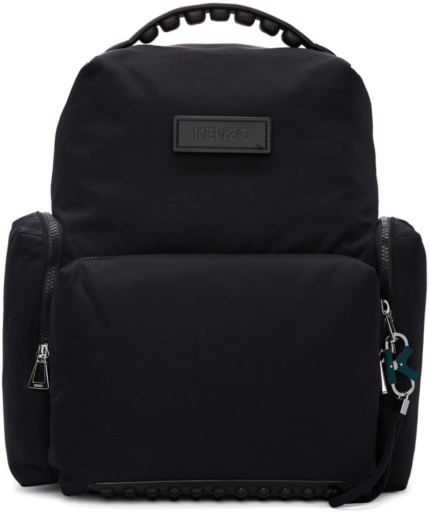 Kenzo Black Studded Backpack