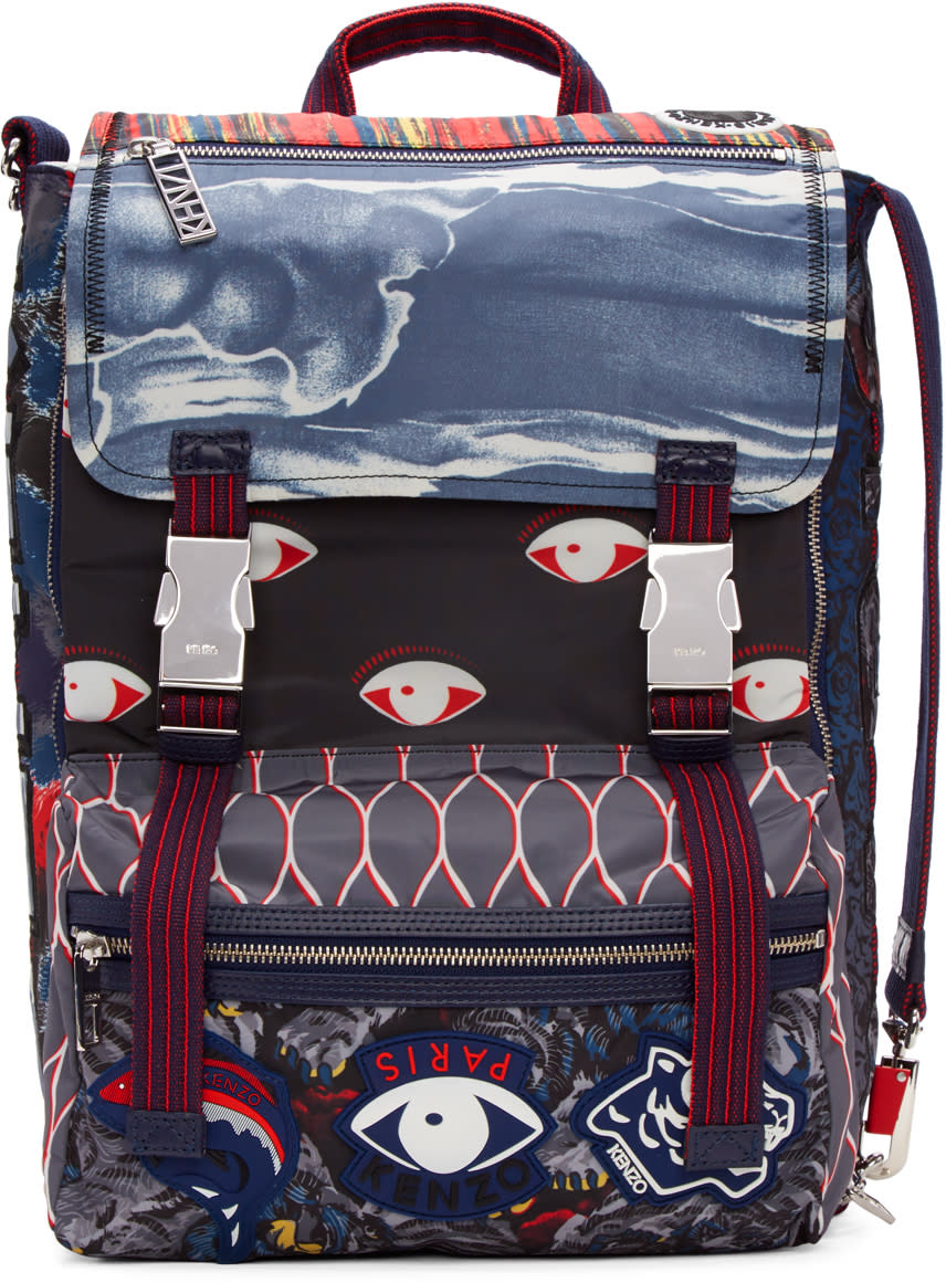 Kenzo Multicolor Icons Backpack