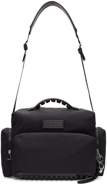 Kenzo Black Studded Duffle Bag