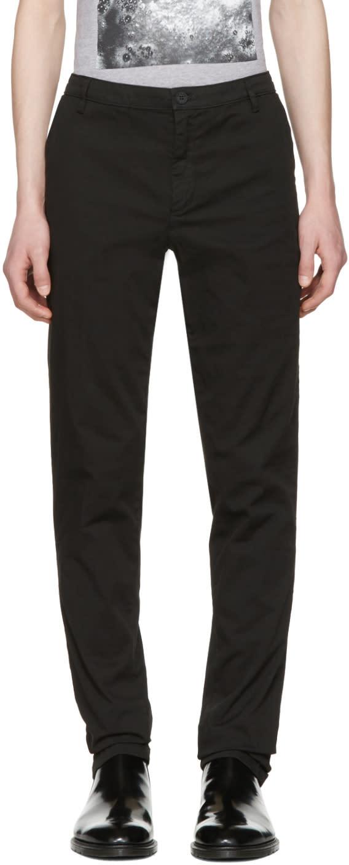 Kenzo Black Logo Chino Trousers