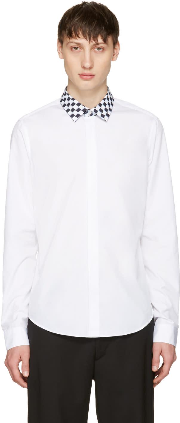 Kenzo White Print Collar Shirt