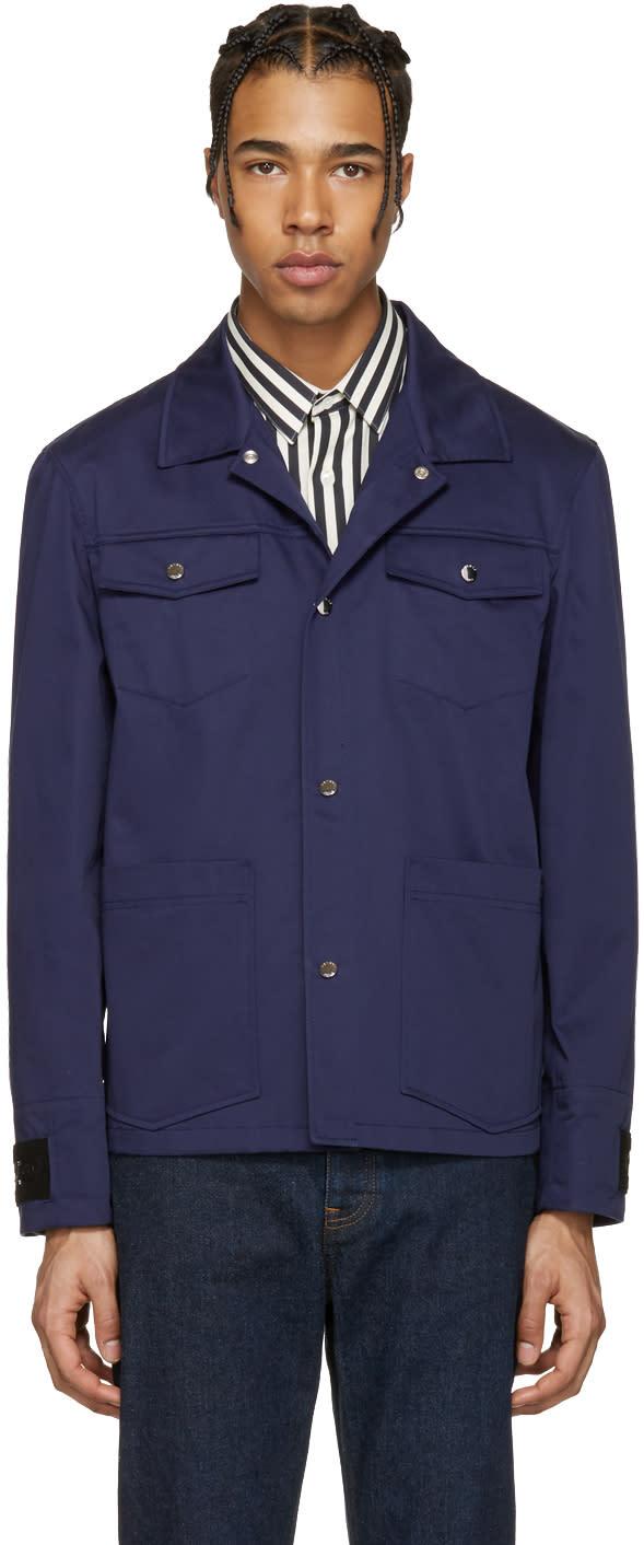 Kenzo Blue Multi Pocket Jacket