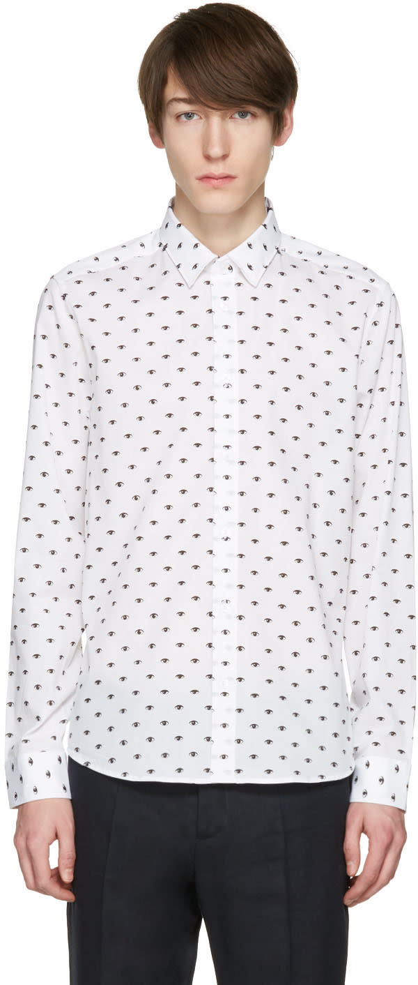 Kenzo White Eyes All Over Shirt