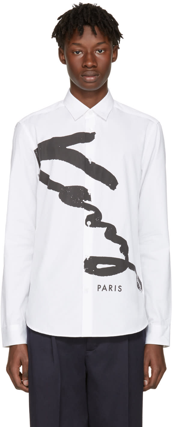 Kenzo White Signature Logo Shirt