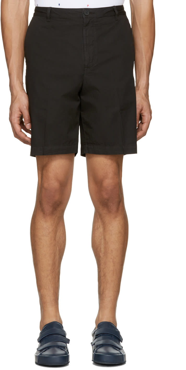 Kenzo Black Embroidered Shorts